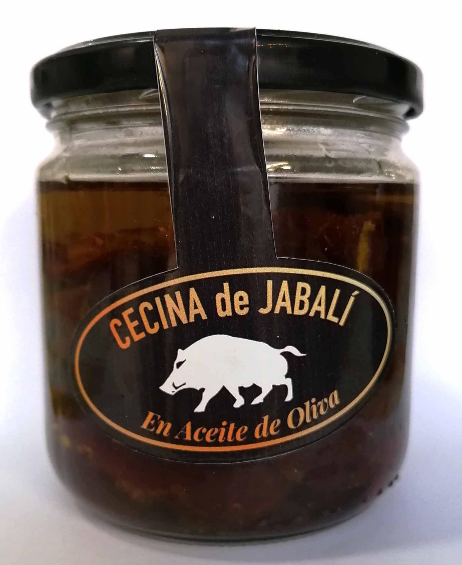 Cecina de jabalí en aceite de oliva