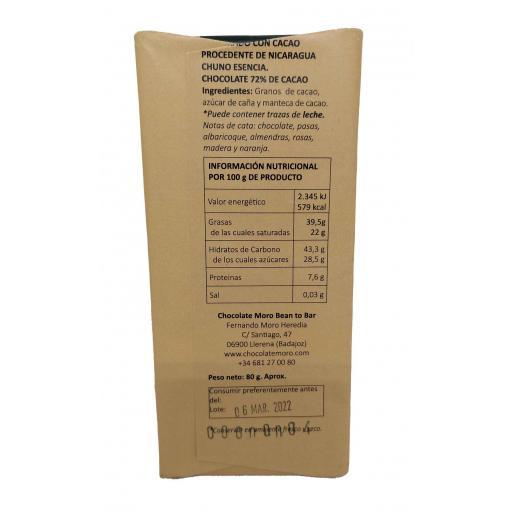 Chocolate Negro Chuno 72% - Chocolates Moro [1]