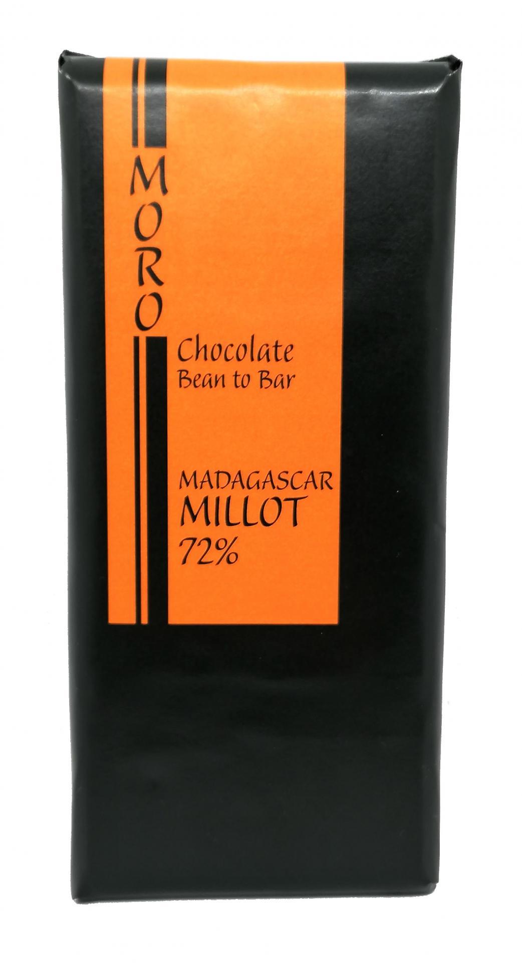 Chocolate Madagascar Millot 72%  - Chocolates Moro