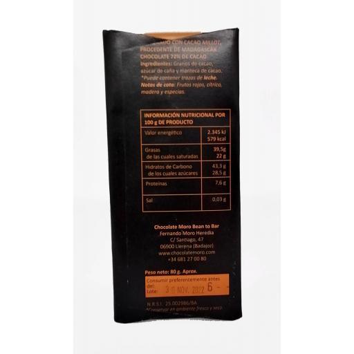 Chocolate Madagascar Millot 72%  - Chocolates Moro [1]