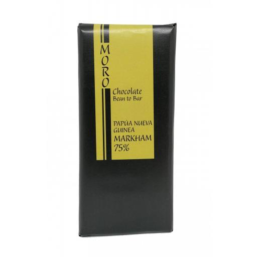 Chocolate Negro de Papúa Nueva Guinea 75% - Chocolates Moro