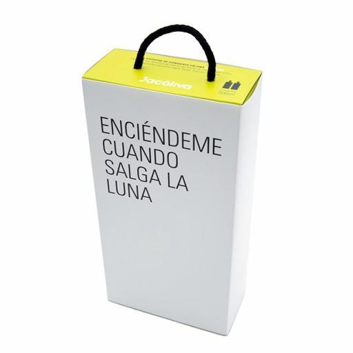 Regalo aceite Jacoliva Manzanilla cacereña verde convertible en lámpara Encandílate [2]