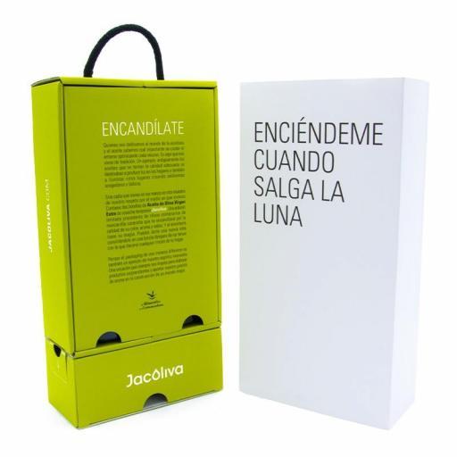 Regalo aceite Jacoliva Manzanilla cacereña verde convertible en lámpara Encandílate [3]