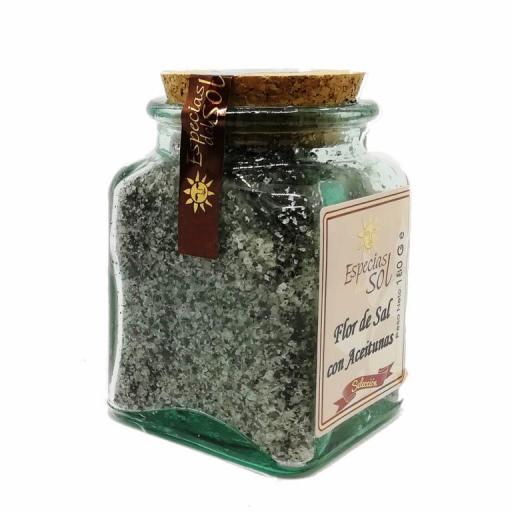 Flor de sal con aceitunas