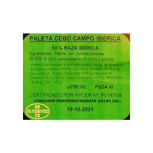 Paleta Ibérica Cebo de Campo Valentin loncheada 100 gr. [1]