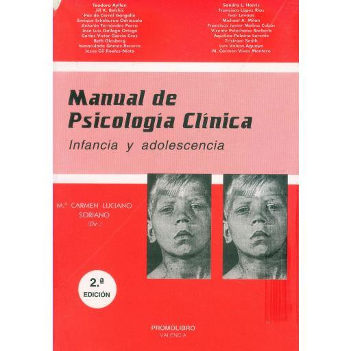 MANUAL DE PSICOLOGÍA CLÍNICA. INFANCIA Y ADOLESCENCIA