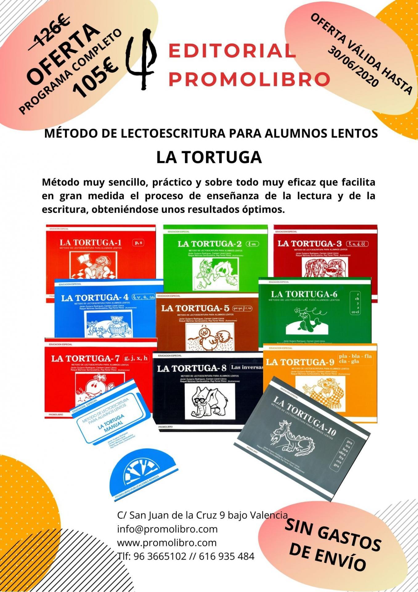 OFERTA MÉTODO DE LECTOESCRITURA PARA ALUMNOS LENTOS. LA TORTUGA