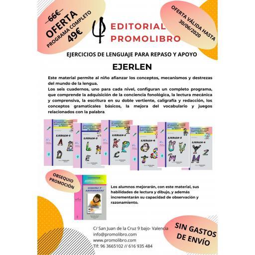 OFERTA EJERCICIOS DE LENGUAJE  PARA REPASO Y APOYO. EJERLÉN PROGRAMA COMPLETO