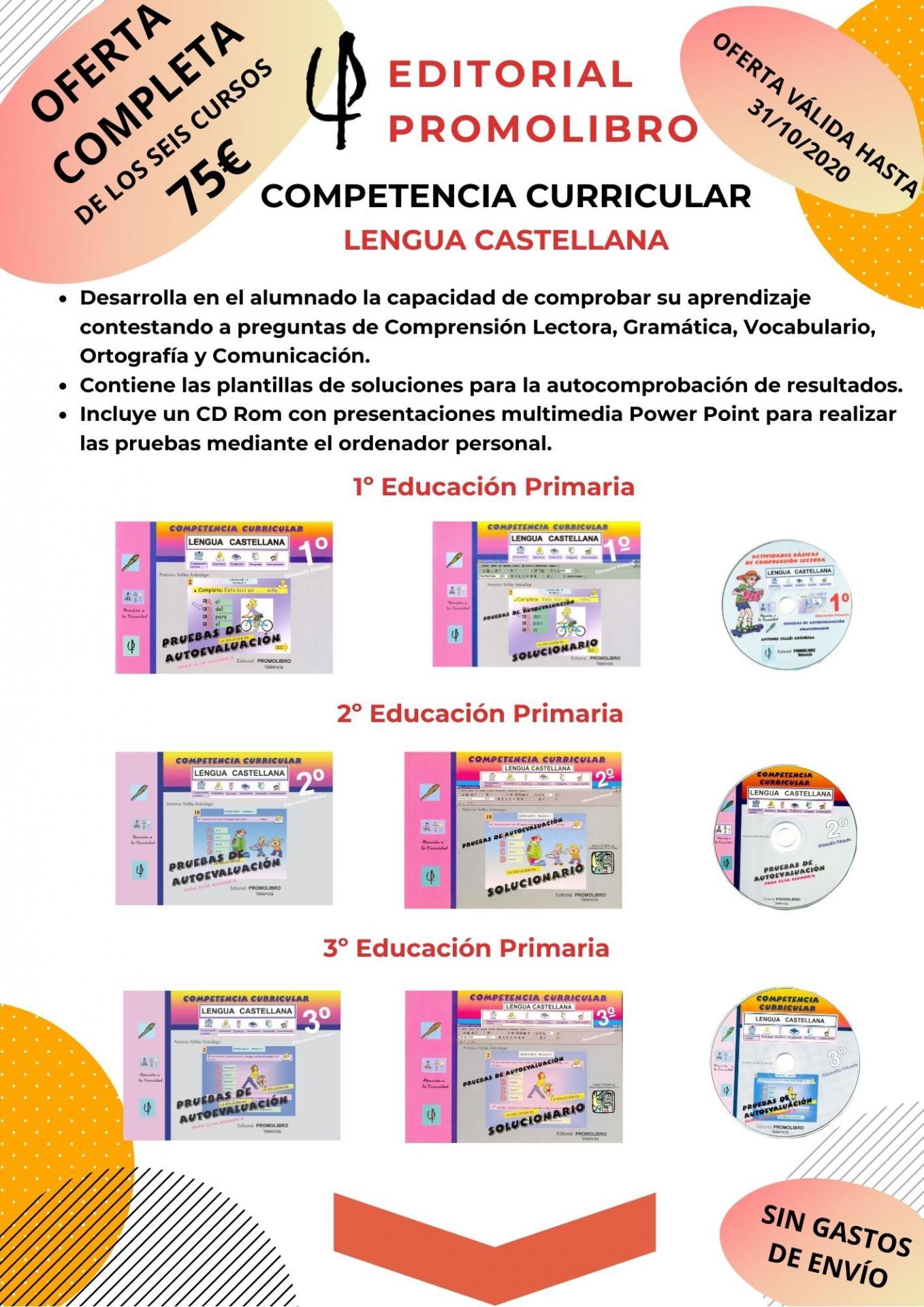 OFERTA. COMPETENCIA CURRICULAR LENGUA CASTELLANA