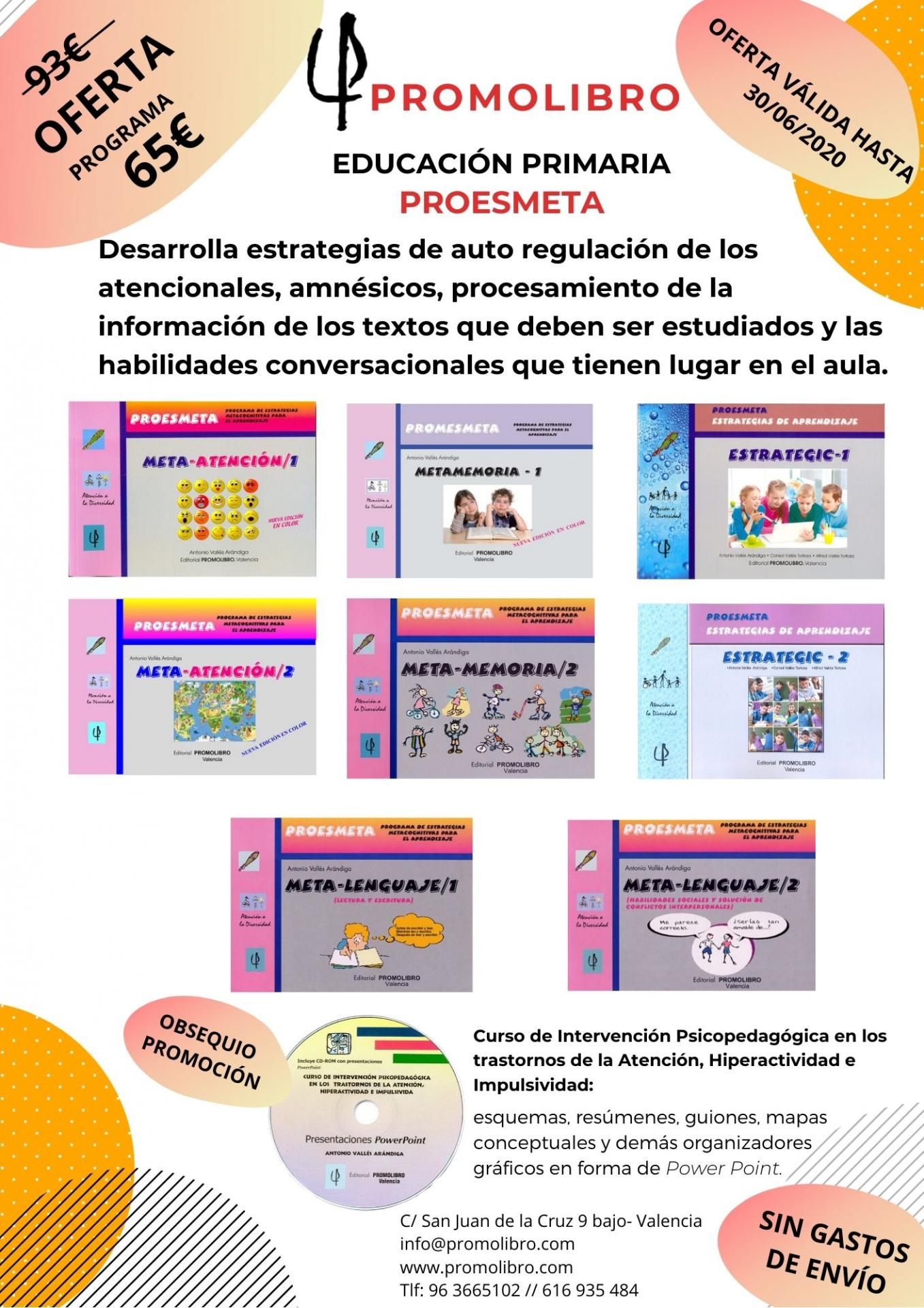 OFERTA. PROGRAMA DE ESTRATEGIAS METACOGNITIVAS PARA EL APRENDIZAJE. PROESMETA