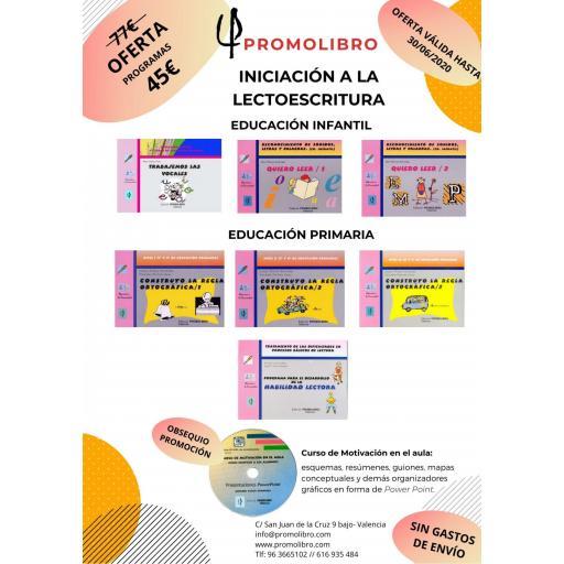 OFERTA PROGRAMAS INICIACIÓN A LA LECTOESCRITURA.