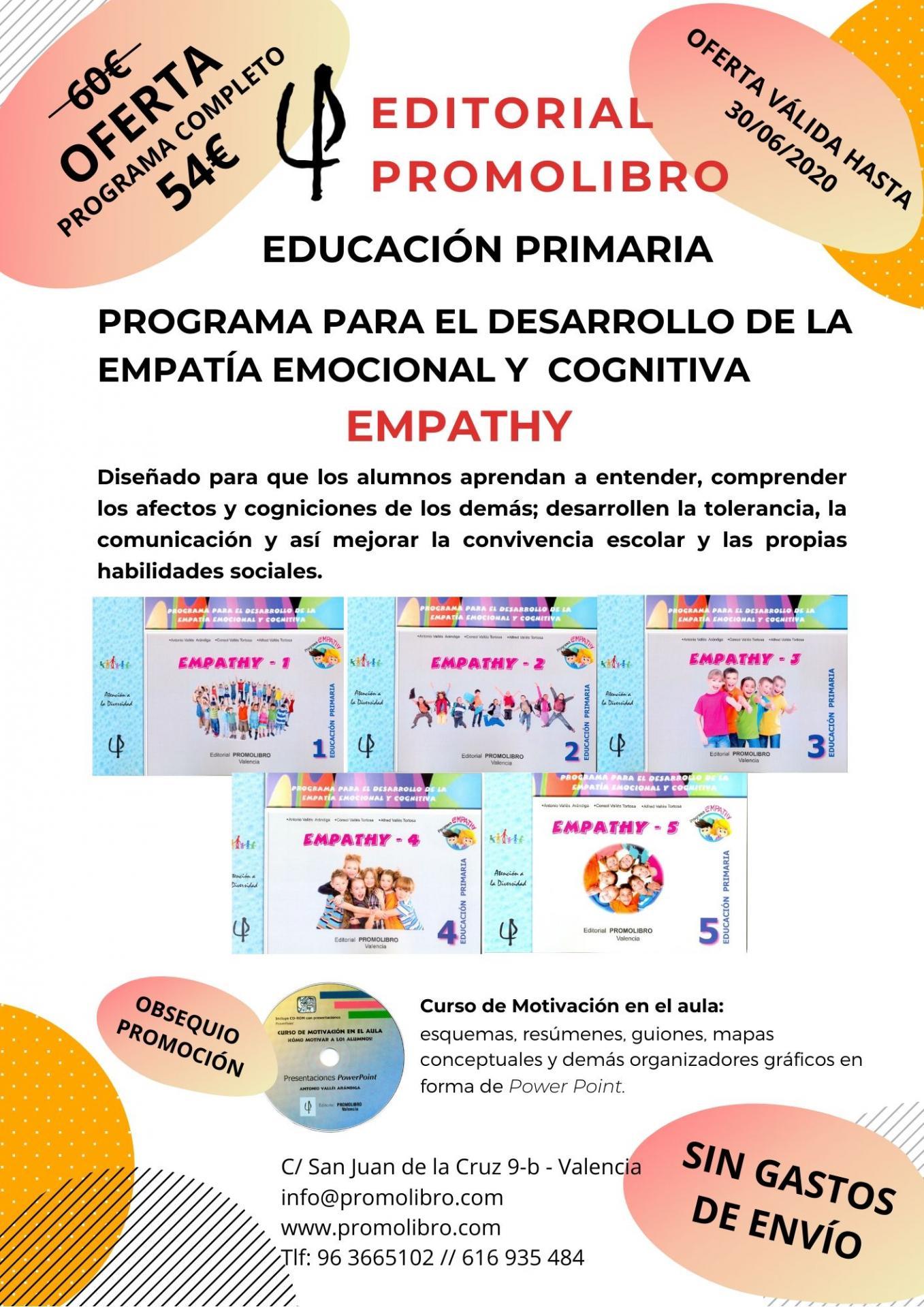 OFERTA. PROGRAMA PARA EL DESARROLLO DE LA EMPATÍA EMOCIONAL Y COGNITIVA. EMPATHY