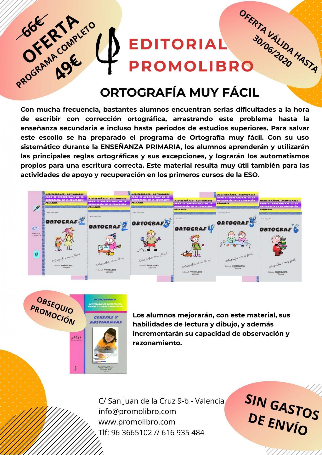OFERTA. ORTOGRAFÍA MUY FÁCIL. ORTOGRAF PROGRAMA COMPLETO