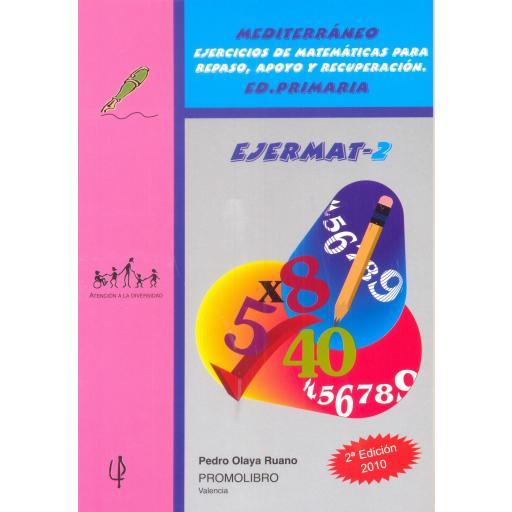 096.- EJERMAT-2. Mediterráneo. Ejercicios de matemáticas para repaso, apoyo y recuperación. Ed. Primaria.