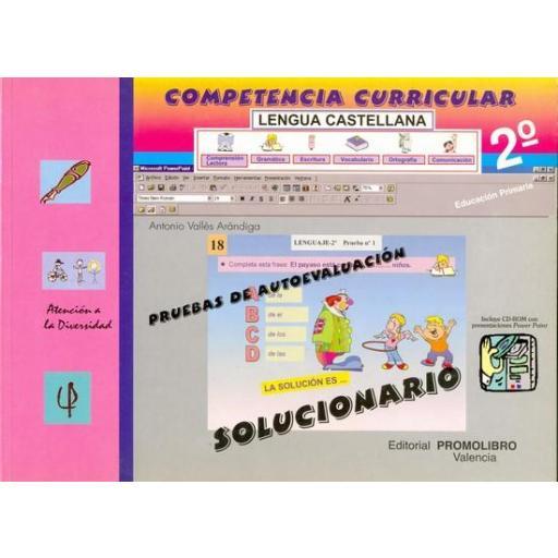 107/108.- COMPETENCIA CURRICULAR. LENGUA CASTELLANA ED. PRIMARIA 2º. AUTOEVALUACIÓN Y SOLUCIONARIO [1]