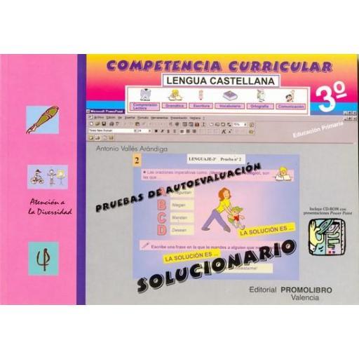 109/110.- COMPETENCIA CURRICULAR. LENGUA CASTELLANA ED. PRIMARIA 3º. AUTOEVALUACIÓN Y SOLUCIONARIO [1]