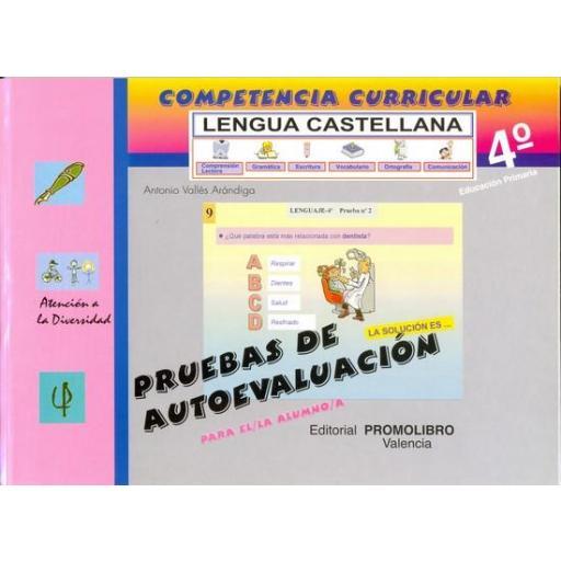 111/112.- COMPETENCIA CURRICULAR. LENGUA CASTELLANA. ED. PRIMARIA 4º. AUTOEVALUACIÓN Y SOLUCIONARIO