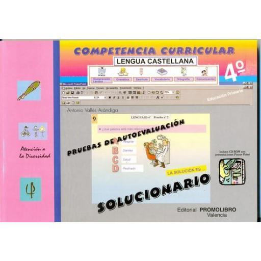 111/112.- COMPETENCIA CURRICULAR. LENGUA CASTELLANA. ED. PRIMARIA 4º. AUTOEVALUACIÓN Y SOLUCIONARIO [1]