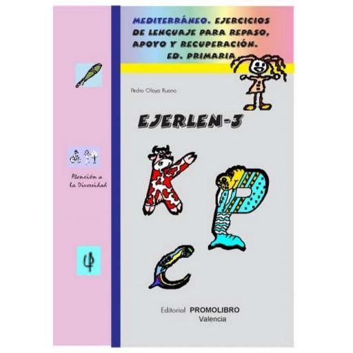 119.- EJERLÉN-3. Ejercicios de lenguaje para repaso, apoyo y recuperación. Educación Primaria