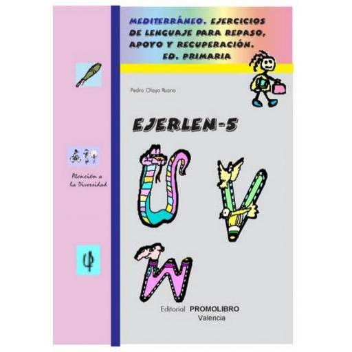 121.- EJERLÉN-5. Ejercicios de lenguaje para repaso, apoyo y recuperación. Educación Primaria