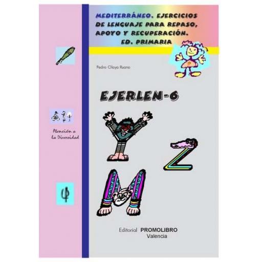 122.- EJERLÉN-6. Ejercicios de lenguaje para repaso, apoyo y recuperación. Educación Primaria
