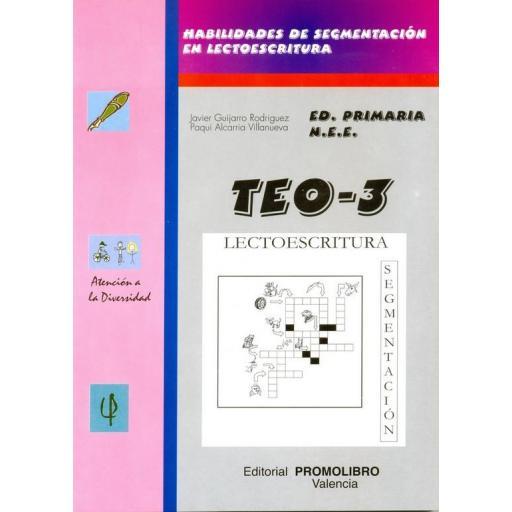 142.- TEO-3. Habilidades de segmentación en lectoescritura (-/rr- r/- ch- y- z- ce- ci- g- j-).