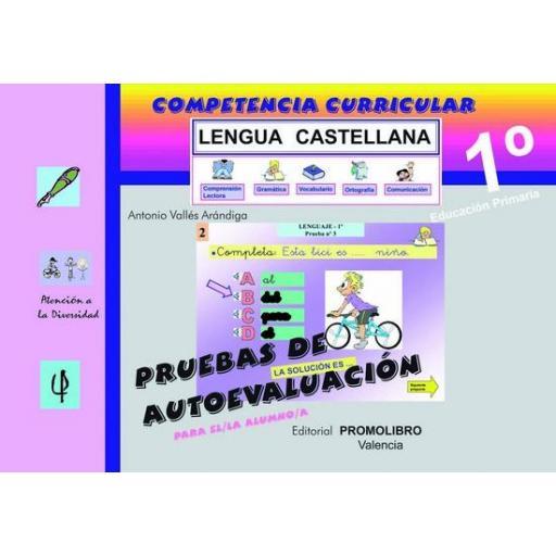 147/148.- COMPETENCIA CURRICULAR. LENGUA CASTELLANA. ED. PRIMARIA 1º. AUTOEVALUACIÓN Y SOLUCIONARIO [1]