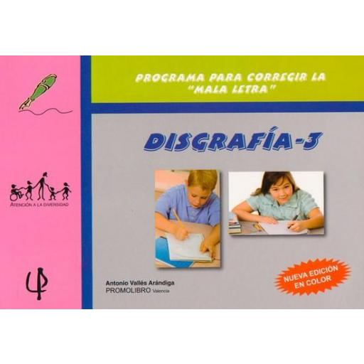 188.- DISGRAFÍA-3. Programa para la recuperación de las dificultades de la escritura.