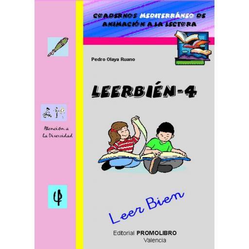 192.- LEERBIÉN-4. Leer Bien. Cuadernos Mediterráneo de animación a la lectura. Educación Primaria
