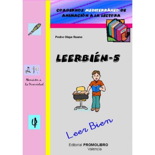 193.- LEERBIÉN-5. Leer Bien. Cuadernos Mediterráneo de animación a la lectura. Educación Primaria