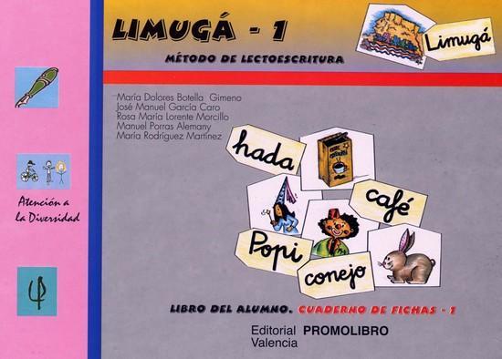 086.- LIMUGÁ-1. Método de lectoescritura.  Cuaderno de fichas 1 (p, l, s, m, t, d, ll, b, ñ, c, q).