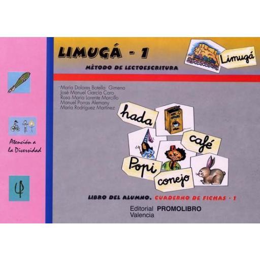 086.- LIMUGÁ-1. Método de lectoescritura.  Cuaderno de fichas 1 (p, l, s, m, t, d, ll, b, ñ, c, q). [0]