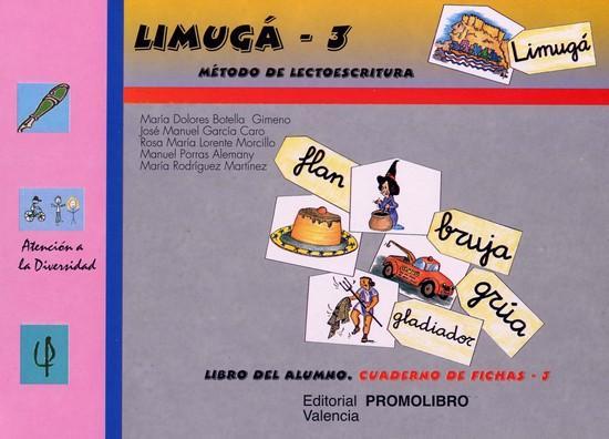 088.- LIMUGÁ-3. Método de lectoescritura. Cuaderno de fichas 3 (los sinfones).