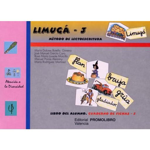 088.- LIMUGÁ-3. Método de lectoescritura. Cuaderno de fichas 3 (los sinfones). [0]