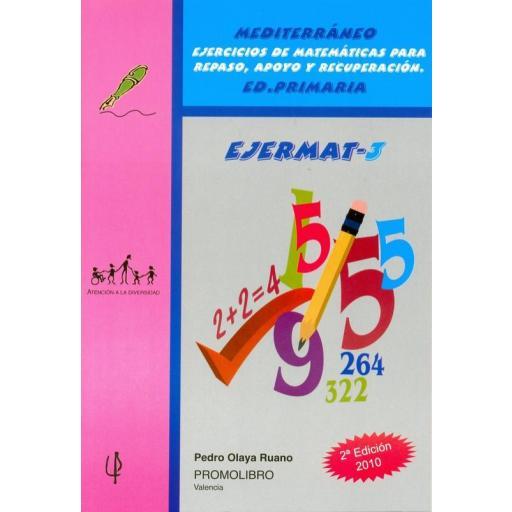 097.- EJERMAT-3. Mediterráneo. Ejercicios de matemáticas para repaso, apoyo y recuperación. Ed. Primaria. [0]