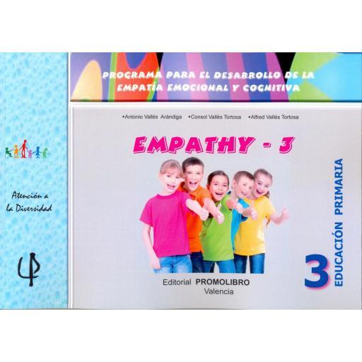 228.-EMPATHY-3. Programa para el desarrollo de la empatía emocional y cognitiva. 3º Educación Primaria