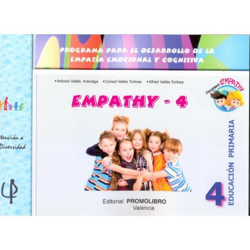 229.-EMPATHY-4. Programa para el desarrollo de la empatía emocional y cognitiva. 4º Educación Primaria