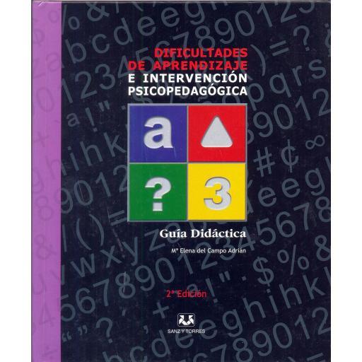 DIFICULTADES DE APRENDIZAJE E INTERVENCIÓN PSICOPEDAGÓGICA. Lote completo. Del Campo, ME.