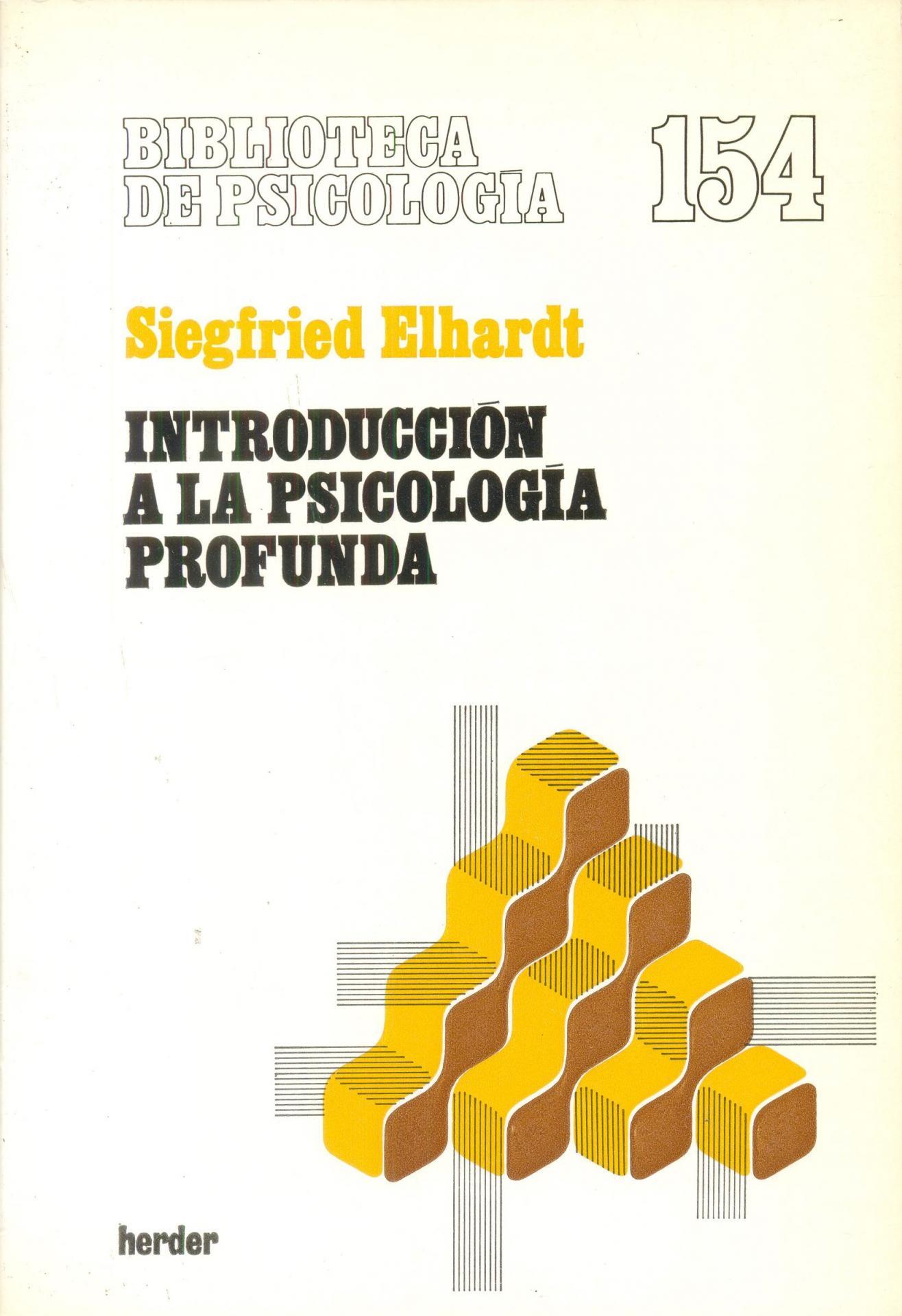 INTRODUCCIÓN A LA PSICOLOGÍA PROFUNDA. Elhardt, S.