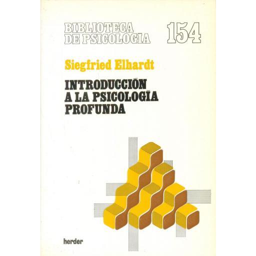 INTRODUCCIÓN A LA PSICOLOGÍA PROFUNDA. Elhardt, S. [0]