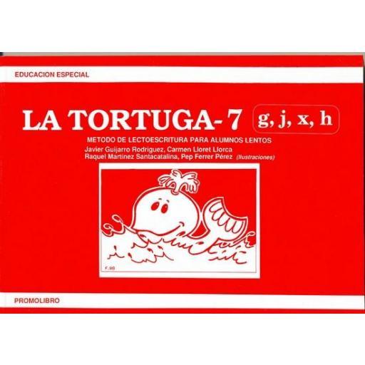 LA TORTUGA-7 (g,j,x,h). Método de lectoescritura para alumnos lentos.