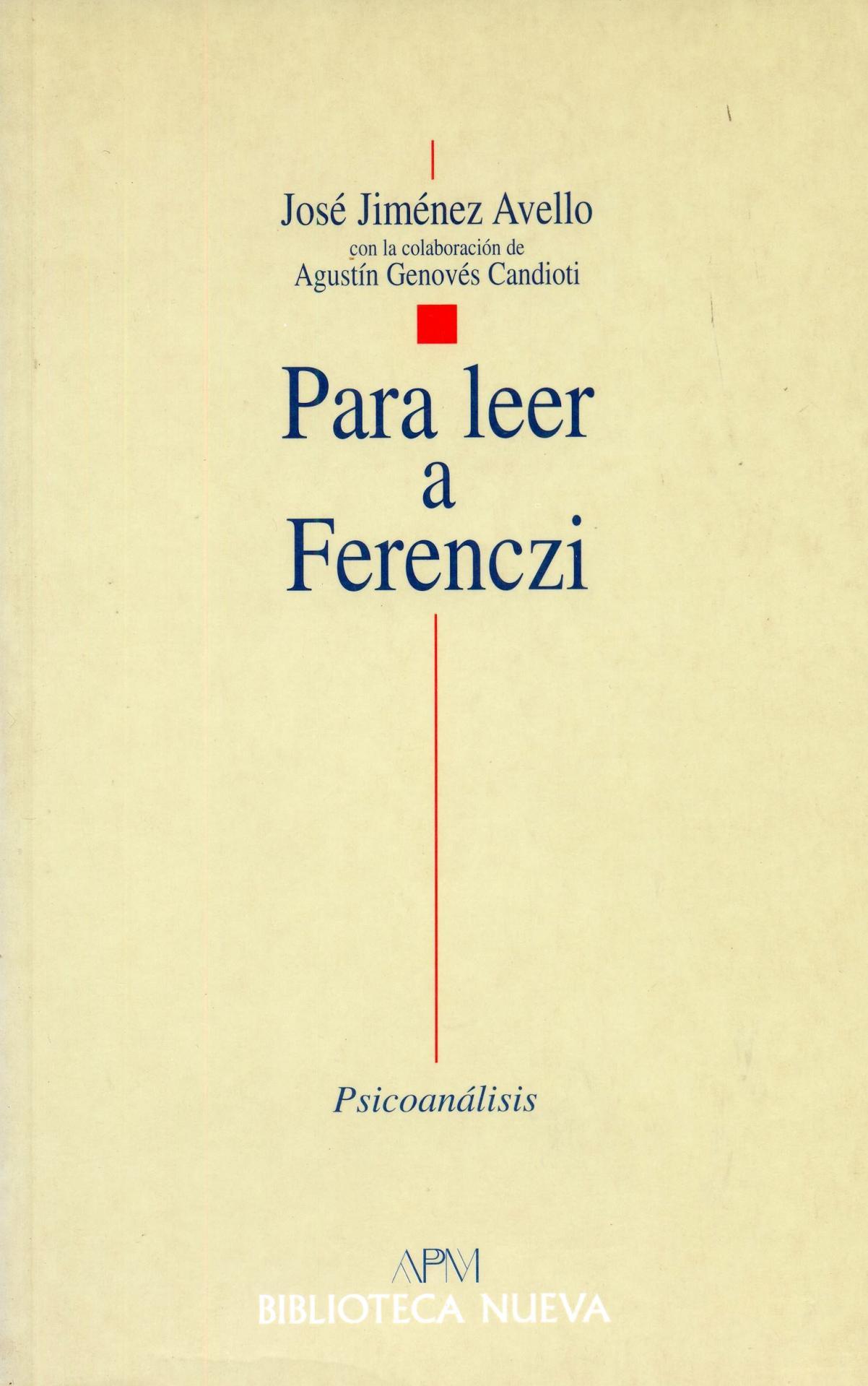 PARA LEER A FERENCZI.  Jiménez Avello, J.