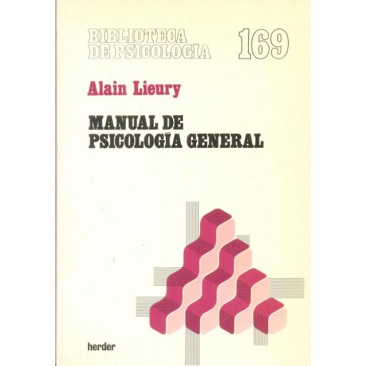 MANUAL DE PSICOLOGÍA GENERAL. Lieury, A.