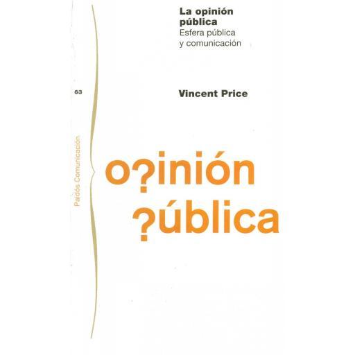 LA OPINIÓN PÚBLICA. Esfera pública y comunicación. Price, V.