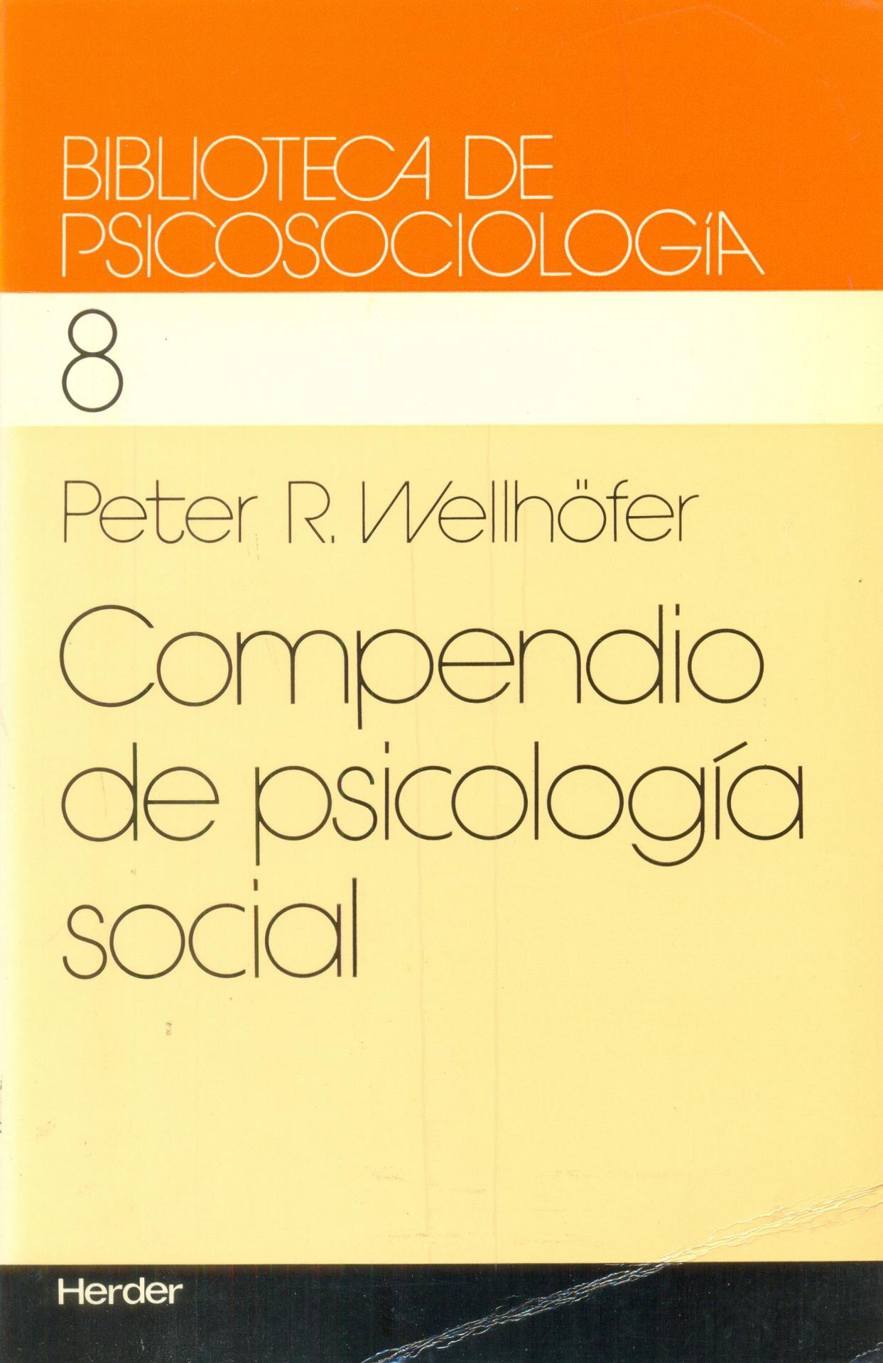 COMPENDIO DE PSICOLOGÍA SOCIAL. Welhöfer, P