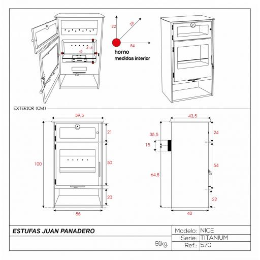 Estufa mod. Nice Titanium [3]