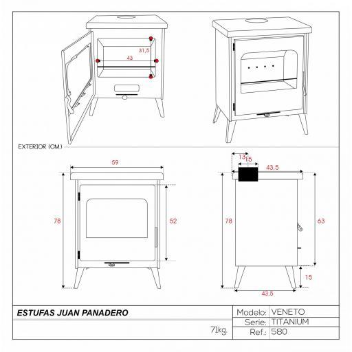 Estufa mod. Veneto Titanium [3]