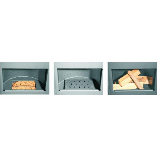 Estufa Hibrida de Leña y Pellets modelo FuJi Eco Plus [1]