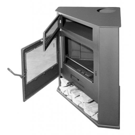 Estufa de leña de rincón modelo R5 con Horno [1]
