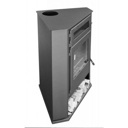 Estufa de leña de rincón modelo R5 con Horno [2]